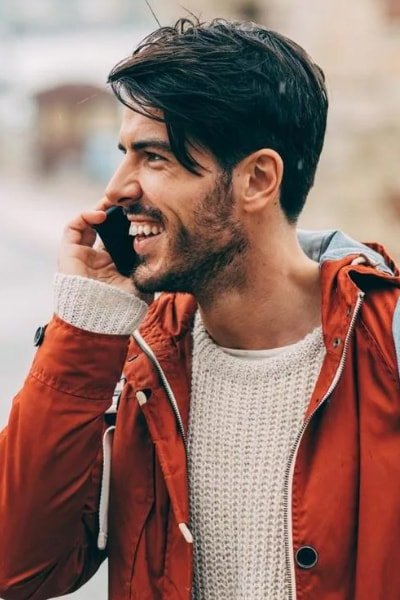 polish man smiling after dental treatment