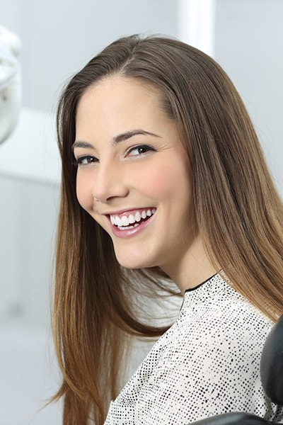 young pretty women for dental checkup