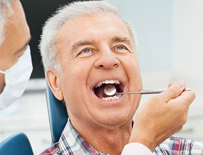 Old patient for dental checkup