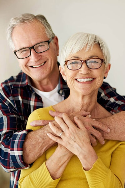 Old couple for dental treatment